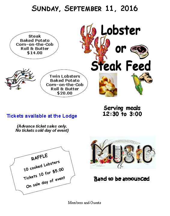 Annual Lobster And Steak Feed @ Annual Lobster And Steak Feed | Augusta | Maine | United States