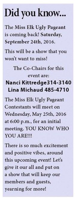 Miss Elk Ugly Pageant Is Back! @ Miss Elk Ugly Pageant   Augusta   Maine   United States
