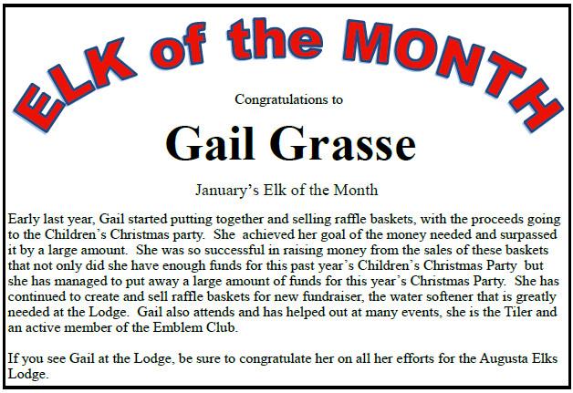 2016 January Elk Of The Month