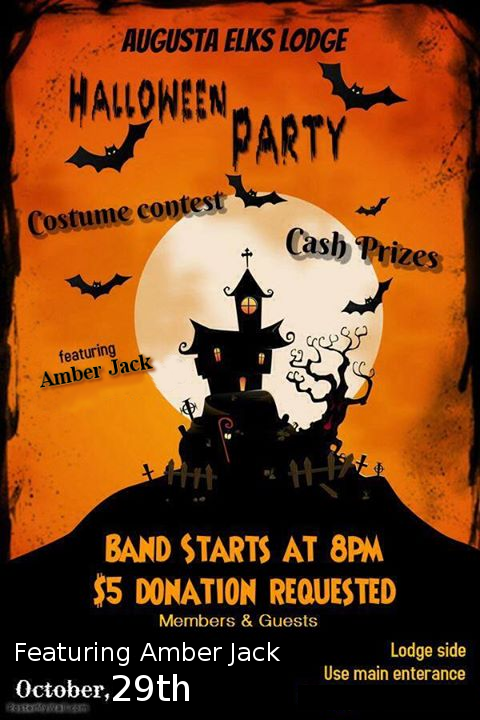 "Halloween Party Featuring  - Music by Amber Jack @ Sat oct 29th the HC will be putting on a Halloween party in the Sports Lounge featuring ""Amber Jack"" a band that played at the Summer festival last year"