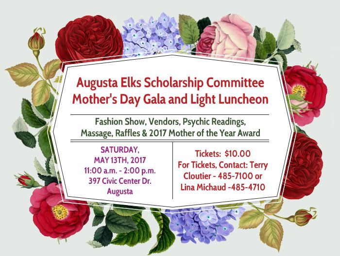 Saturday May 13th 2017 Mother's Day Gala And Light Luncheon @ See Details below - Sponsored by the Scholarship Committee