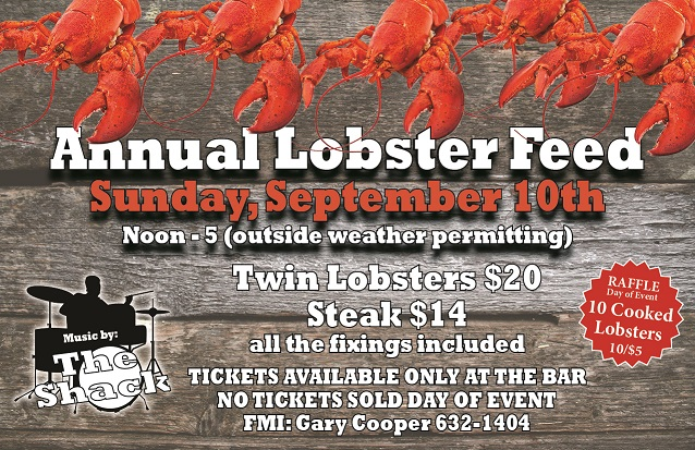 Annual Lobster And Steak Feed - Sept 10th noon-5pm @ Annual Lobster And Steak Feed | Augusta | Maine | United States