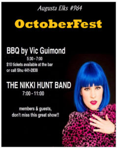 Sept 23rd Octoberfest BBQ and Nikki Hunt Band 6pm-11pm @ Octoberfest BBQ and Nikki Hunt Band   Augusta   Maine   United States