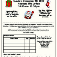Children's Chrismas Party Sunday, December10, 2017 Augusta Elks Lodge 10:30am – 12:30pm