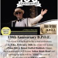 Friday, February 16th, 2018 150th Birthday Celebration Augusta Elks Lodge #964