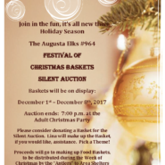 FESTIVAL OF CHRISTMAS BASKETS SILENT AUCTION December 1st – December 8th, 2017