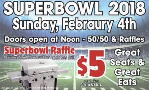Superbowl 2018 Sunday February 4th Food $5 @ Superbowl | Augusta | Maine | United States