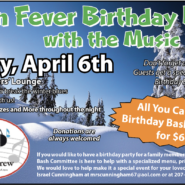 """All You Can Eat Birthday Bash Buffet With """"The Music Crew"""" April 6th 6pm – 8pm"""