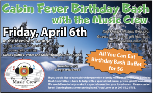 "All You Can Eat Birthday Bash Buffet With ""The Music Crew"" April 6th 6pm - 8pm @ All You Can Eat Birthday Bash Buffet With ""The Music Crew"" April 6th"