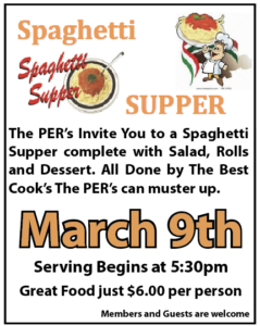 PER Spaghetti Supper Mar 9th 5:30pm - 7pm $6.00 Per @ Elks: PER Spaghetti Supper Mar 9th | Augy | Bourgogne-Franche-Comté | France