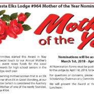 Mother of the Year Nomination – Nominations Accepted May 1st – April 1st