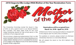 Mother of the Year Nomination - Nominations Accepted May 1st - April 1st @ Mother of the Year Nomination - Nominations Accepted May 1st - April 1st