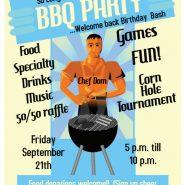 Sep. 21th BIRTHDAY BASH So Long Summer BBQ