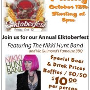 Oct. 12th Elktoberfest Nikki Hunt Vic Band, Guimond's BBQ