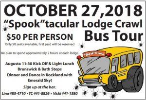 "Oct. 27 ""Spook""tacular Lodge Crawl @ Lodge Crawl"