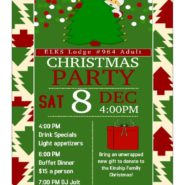 Dec 8th Adult Christmas Party 4pm