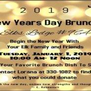 New Years Day Brunch Jan 1, 10am to Noon, see details online for what to bring