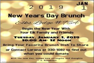 New Years Day Brunch Jan 1, 10am to Noon, see details online for what to bring @ New Years Day Brunch