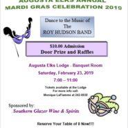 Augusta Elks Annual Mardi Gras Celebration February 23, 7pm – 11pm