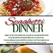 Spaghetti Dinner March 2nd 5pm – 7pm To Support Our U12 Travel Team, See Poster For More Details
