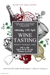 Wine Tasting Saturday April 27th 4 - 8pm Tickets 15$ Purchase By 4/24/19, Hosted by Pam @ Elks Wine Tasting Saturday April 27th