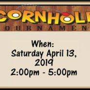 Corn-Hole Tournament April 13th at 2pm