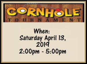 Corn-Hole Tournament April 13th at 2pm @ Augusta Elks *Bring Your Own Bean Bags