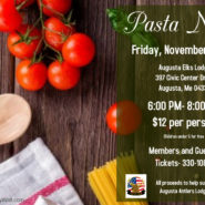 Pasta Dinner – Nov 8th Members and Guest $12 per