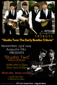Studio Two - A Beatles Tribute Band, Nov 23rd, Doors Open 6:30pm Show starts at 8:pm @ Doors open at 6:30pm - Show starts at 8pm - see poster for more info