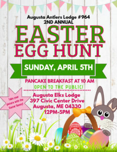 2nd Annual Easter Egg Hunt and Pancake Breakfast will be Sunday, April 5, 2020 from 10am to 12 Noon @ Open to the public - Take your picture with the Easter Bunny!