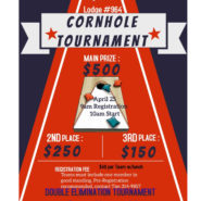Cornhole Tournament Apr25th 9am Registration 10am event begins