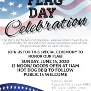 Sunday June 14th Flagday, 11am, door open at 10am  Hotdog BBQ to follow, Public is welcome