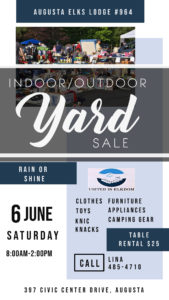 June 6th Yard Sale 8am-2pm @ Clothes, Furniture, Toys, Appliances, Camping Gear, Knick Knacks - $25 per table