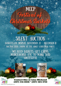 FESTIVAL OF CHRISTMAS BASKETS SILENT AUCTION November 21rd – December 11th, 2020 @ Baskets will be on display from Sunday, November 11th – Friday, December 11th, 2020